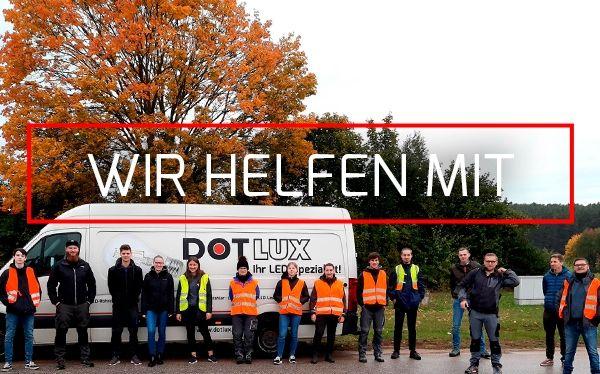 DOTLUX hilft mit und unterstützt die Pfadfinder