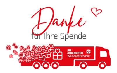 Johanniter Weihnachtstrucker – DANKE!!!